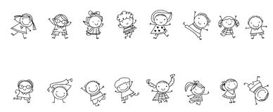 Cute sketch children Stock Photo