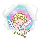 Cute sketch Cupid Royalty Free Stock Images