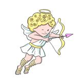 Cute sketch Cupid Royalty Free Stock Image