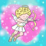 Cute sketch Cupid Royalty Free Stock Photography