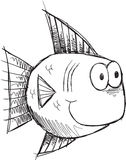 Cute Sketch Doodle Fish Vector Royalty Free Stock Photos