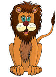 Cute sketchy cartoon lion Royalty Free Stock Photo