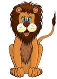 Cute sketchy cartoon lion Royalty Free Stock Photo