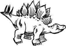 Cute sketchy Dinosaur vector Royalty Free Stock Photo
