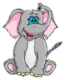 Cute sketchy elephant Stock Photos