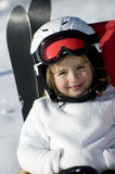 Cute skier Stock Photos