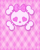 Cute Skull background Royalty Free Stock Images