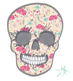 Cute skull with floral pattern. Skull from flowers royalty free illustration