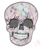 Cute skull with floral pattern. Skull from flowers Stock Photo