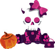 Cute Skull Girl Stock Images