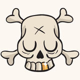 Cute skull with golden tooth Royalty Free Stock Images