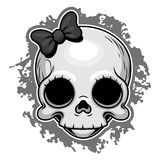 Cute skull portrait Royalty Free Stock Images