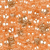 Cute skulls pattern Royalty Free Stock Photo