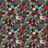 Cute skulls seamless pattern. Royalty Free Stock Image