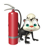 Cute Skunk cartoon character  with fire extinguisher. 3d rendered illustration of Skunk cartoon character with fire extinguisher Royalty Free Stock Photos