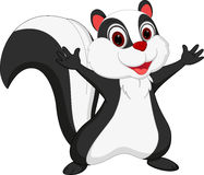 Cute skunk cartoon presenting Stock Images