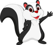 Cute skunk cartoon presenting Royalty Free Stock Photos