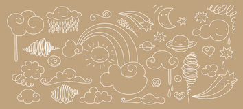 Cute sky doodle Royalty Free Stock Photos