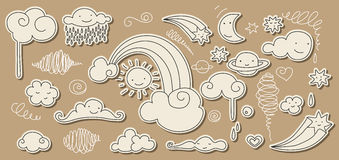 Cute sky doodle Royalty Free Stock Images