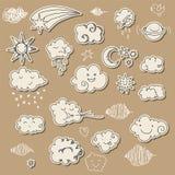 Cute sky doodle Stock Photography