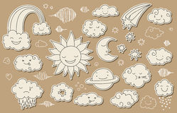Cute sky doodle Stock Image