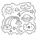 Cute sky doodle Royalty Free Stock Photography