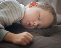 Cute sleeping baby. Close up shot of cute sleeping boy Stock Photos