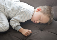 Cute sleeping baby. Close up shot of cute sleeping boy Stock Images