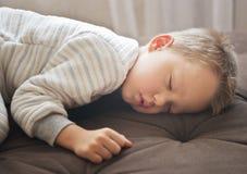 Cute sleeping baby. Close up shot of cute sleeping boy Royalty Free Stock Photography
