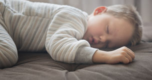 Cute sleeping baby Stock Photography