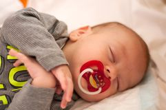Cute  sleeping baby portrait Stock Images