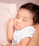 Cute sleeping baby portrait Royalty Free Stock Photography
