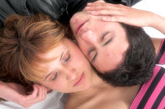 Cute sleeping couple Stock Photography