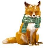 Cute sleeping fox. With scarf Stock Photography