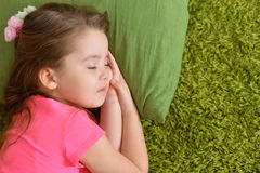 Cute sleeping little girl close-up Royalty Free Stock Image