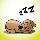 Cute sleeping puppy. Cute happy sleeping puppy illustration Royalty Free Stock Photography