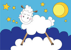Cute sleeping sheep Royalty Free Stock Photo