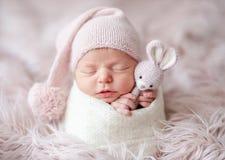 Cute sleepy newborn baby