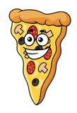 Cute slice of cartoon pizza Royalty Free Stock Image
