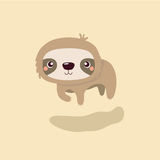 Cute sloth. Royalty Free Stock Image