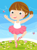 Cute small ballerina. Illustration art Royalty Free Stock Photography