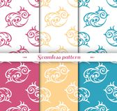 Cute small bird seamless repeat pattern Stock Photos