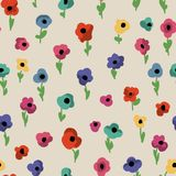 Flowers seamless pattern. Cute small colorful flowers seamless pattern Royalty Free Stock Photos