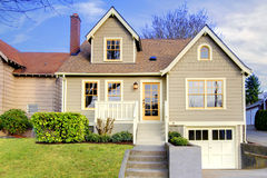 Cute small craftsman style home Royalty Free Stock Photos
