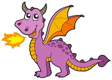 Cute small dragon Stock Image
