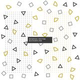 Cute small geometrical shapes background. Vector Royalty Free Stock Image