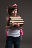 Cute small girl going to school. Stock Photography