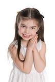 Cute small girl stock image