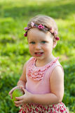 Cute small girl in the summer park. Stock Photography
