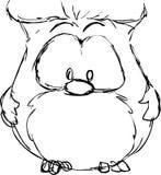 Cute small owl - funny vector illustration Stock Photos